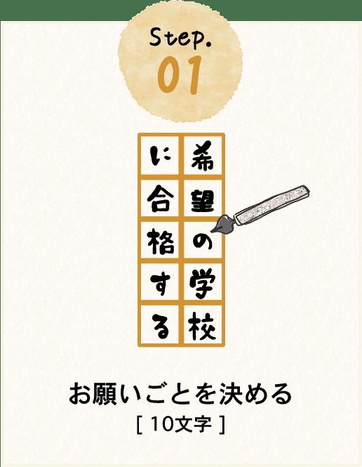 step.01 お願いごとを決める